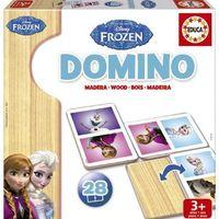 Zabawki z drewna, EDUCA Domino Frozen (16255)