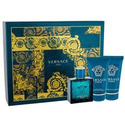 Versace Eros M Zestaw perfum Edt 50ml + 50ml Żel pod prysznic + 50ml Balsam po goleniu