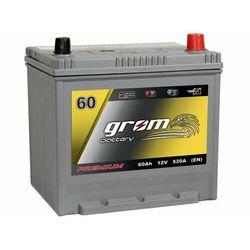 Akumulator GROM Premium 60Ah 520A EN Japan Prawy Plus DTR