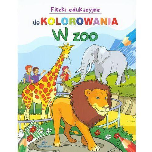 Kolorowanki, Fiszki edukacyjne do kolorowania - W ZOO - Siedmioróg