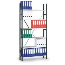 Regał archiwalny Variant, 2190x1240x300 mm, szare półki, podstawowy