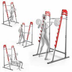 Stojaki treningowe do ćwiczeń pod sztangę ławkę z asekuracją KSSL018