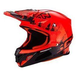 SCORPION VX-21 AIR MUDIRT BK-NEON RED Kask motocrossowy