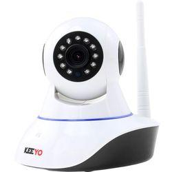 Monitoring przez internet KEEYO LV-IP10PTZ Kamera IP HD Wifi Niania Elektroniczna 1MPx IR 8m