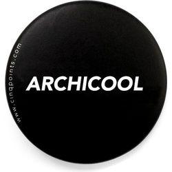 Przypinka czarna Badge Build Archicool