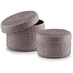 Zeller 14120 zestaw kosz z pokrywą, 2-częściowy, okrągły, PP, Ø 16 x 10 cm, Ø 17 x 12 cm