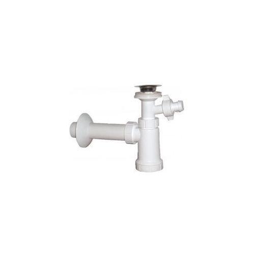 Syfon umywalkowy 40mm ze złączem do pralki, korek z łańcuszkiem CV1013 (8595156220805)