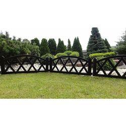 Klasyczny płotek ogrodowy z tworzywa sztucznego brązowy 2,3 mb