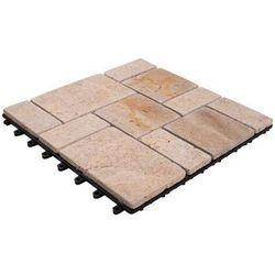 Podest tarasowy kamienny 30 x 30 cm 21 mm beżowy DLH