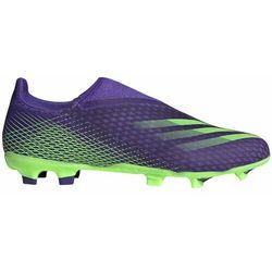 Buty piłkarskie adidas X Ghosted.3 LL FG fioletowo-zielone EG8164
