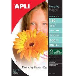 Papier fotograficzny APLI Everyday Photo Paper, 10x15cm, 180gsm, błyszczący, 100ark.