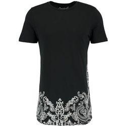Jack & Jones JORNEW SCARF CREW NECK SLIM FIT Tshirt z nadrukiem black