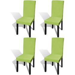 vidaXL Elastyczne pokrowce na krzesła zielone 4 szt. Darmowa wysyłka i zwroty