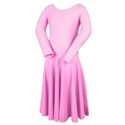 Turniejowa sukienka taneczna dla dziewczynki PIERWSZY KROK różowa - różowy