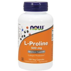Now Foods L-Proline (L-Prolina) 500mg 120 kaps.