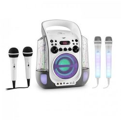 Auna Kara Liquida zestaw do karaoke szary + Kara Dazzl zestaw mikrofonów LED