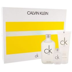 Calvin Klein CK One zestaw Edt 100 ml + Edt 15 ml + Żel pod prysznic 100 ml unisex