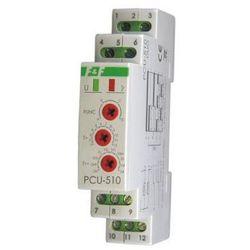 Przekaźnik czasowy na szynę 2P 8A 230V, 24V 0,1s - 576h wielofunkcyjny PCU-510DUO F&F