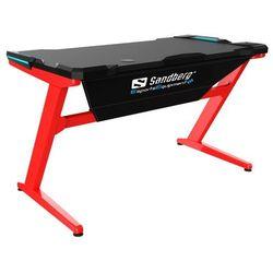 Sandberg stół gamingowy Fighter Gaming Desk - czerwony - BEZPŁATNY ODBIÓR: WROCŁAW!