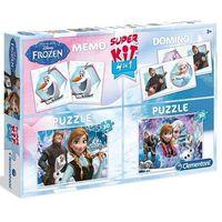 Puzzle, Puzzle CLEMENTONI Kraina Lodu SuperKit + Memory + Domino Frozen (2x30 elementów)