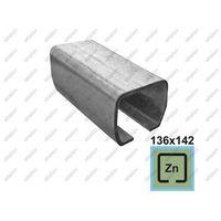 Przęsła i elementy ogrodzenia, Profil do bramy przesownej Zn, 136x142x6mm, L6m