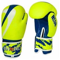 Rękawice bokserskie ENERO Neon (rozmiar 10oz) Zielono-granatowy