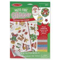 Naklejki, Naklejki wypukłe z brokatem - Boże Narodzenie - Melissa & Doug