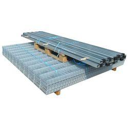 vidaXL Panele ogrodzeniowe 2D z słupkami - 2008x2030 mm 44 m Srebrne Darmowa wysyłka i zwroty