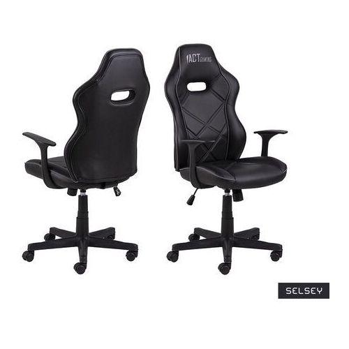 Fotele dla graczy, SELSEY Fotel gamingowy Nauders czarno-szary