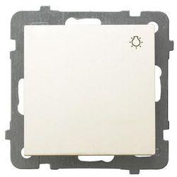 """OSPEL AS ŁP-5G/M/27 Łącznik zwierny """"światło"""" ECRU 10A/250~, IP-20 zaciski gwintowe"""