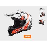 Kaski motocyklowe, KASK MOTOCYKLOWY ENDURO OFF ROAD LS2MX700 SUBVERTER EVO ASTRO WHITE ORANGE nowość 2021 roku