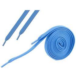 Sznurówki płaskie do butów 7 mm - niebieskie - Niebieski