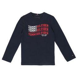 TOMMY HILFIGER Koszulka 'TOMMY FLAG L/S' ciemny niebieski / czerwony / biały