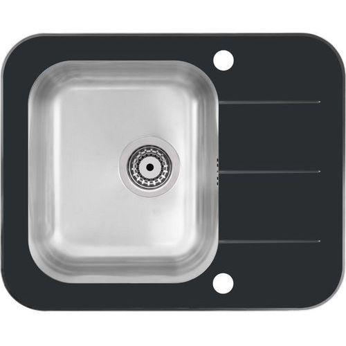 Zlewozmywak keanu 116 czarny + odpływ stalowy [hb9021sc] marki Quadron