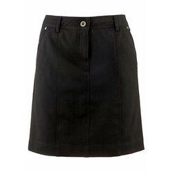 Spódnica ze stretchem z wpuszczanymi kieszeniami bonprix czarny