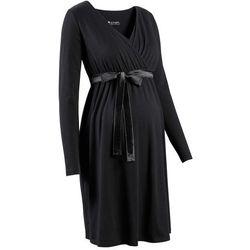 Sukienka ciążowa i do karmienia bonprix czarny