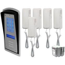 Zestaw 5-rodzinny panel domofonowy wielorodzinny z szyfratorem RADBIT BRC10 MOD