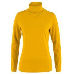 Shirt z golfem, długi rękaw bonprix żółty curry