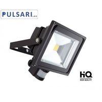 Naświetlacze zewnętrzne, Naświetlacz Halogen 20W PULSARI LED czujnik ruchu i zmierzchu