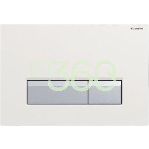 Geberit sigma40 przycisk do wc z funkcją odciągu powietrza biały/szczotkowane aluminium 115.600.kq.1