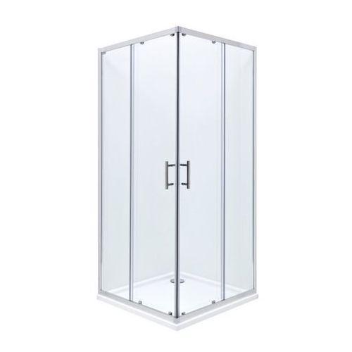 Roca Roca town square kabina 80x80x195 cm, profile aluminiowe chrom, szkło transparentne, z powłoką maxi clean amp160801m 80 x 80 (AMP160801M)