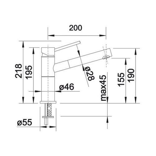 Baterie do kuchni, Bateria Blanco Alta -s compact 517182