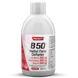 Witamina B50 Methyl Forte Complex Kwas foliowy Biotyna 500ml PharmoVit