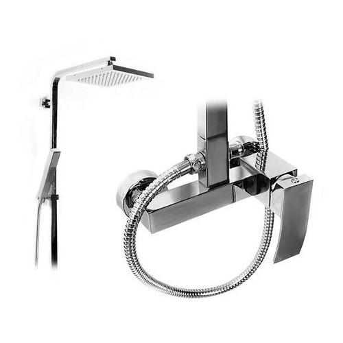 Zestaw prysznicowy deszczownica z słuchawką Axos Rea