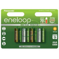 8 x akumulatorki Panasonic Eneloop Tones Botanic R03/AAA 800mAh (blister)