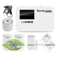 Zestawy alarmowe, KOMPLETNY BEZPRZEWODOWY ALARM GSM 3 CZUJKI +SYRENA VS-GSM50C