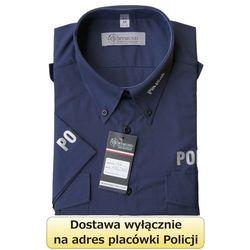 Koszula granatowa Policji z krótkim rękawem