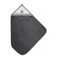 Grafitowe okrycie kąpielowe ręcznik z kapturkiem 100x100