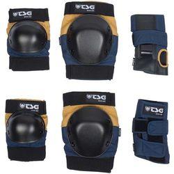 ochraniacze TSG - basic-set night blue-dusk yellow (199) rozmiar: S