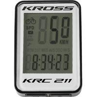 Liczniki rowerowe, Komputerek Kross KRC 211 11-funkcjii przewodowy czarno-biały